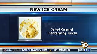 Thanksgiving meal in ice cream? - Video