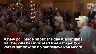 Brand New Poll Rocks Roy Moore Election Right as Voters Head to the Polls - Video