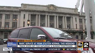 Track work at Baltimore's Penn Station cancelled - Video