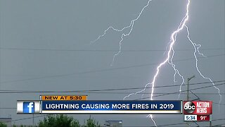 2019 extra active for lightning-related fires in Polk County, fire rescue says