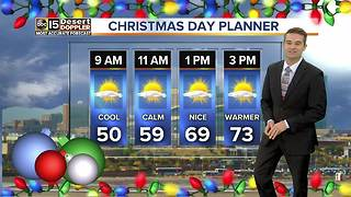 Warm temps expected in the Valley for Christmas day - Video