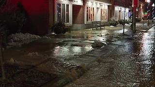 Brecksville Water Main break - Video