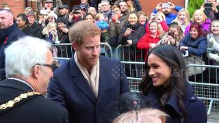 Meghan Markle makes first public engagement with Prince Harry - Video