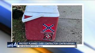 Worker fired for KKK sticker on lunch cooler - Video