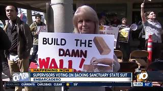 Supervisors voting on backing sanctuary state suit - Video