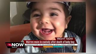 Warren mother in custody after death of baby boy - Video