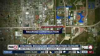 Long term closure on Colonial Boulevard under way - Video