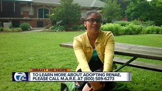 Grant Me Hope: Renae is searching for her forever family - Video