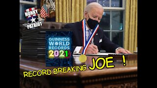 JOE BIDEN BREAKS EXECUTIVE ORDER RECORD