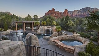 Stunning secluded mansion offers home that feels like resort, and breathtaking views of surrounding red rock mountains - Video