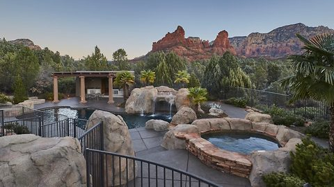 Stunning secluded mansion offers home that feels like resort, and breathtaking views of surrounding red rock mountains