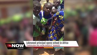 Local principal opens school in Africa - Video