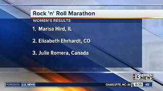 Rock 'n' Roll Marathon winners - Video