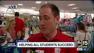 Phoenix Kohl's helping students succeed with school supplies - Video