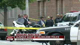 Suspect shot by Milwaukee police officer - Video