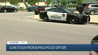 Guns stolen from Buffalo Police Officer