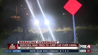 Man tries to jump canal with his car in Lehigh Acres - Video