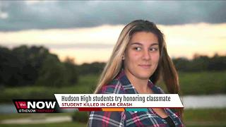 High school denies students' request to honor classmate who died at graduation - Video