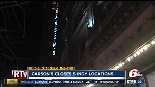 Carson's to close 5 Indiana locations including Circle Centre Mall - Video