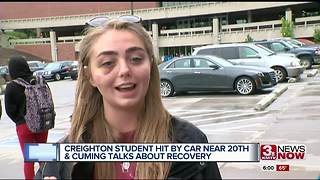 Creighton student involved in a hit and run speaks 6pm - Video