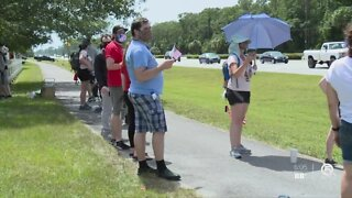 Protesters gather in Jupiter Farms