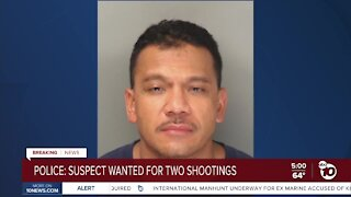 Police: Suspect wanted for two San Diego shootings