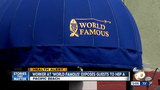 Pacific Beach worker exposes customers to hep A - Video