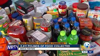 All-day Bill Brooks' Food for Families drive underway in Boca Raton - Video