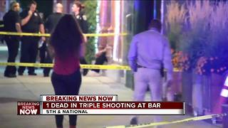 1 dead in triple shooting at bar