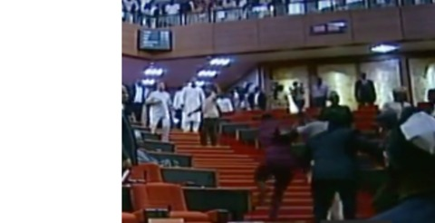 Men Storm Nigerian Senate, Steal Mace