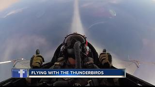 Reporter Karen Lehr flies with the U.S.A.F. Thunderbirds - Video