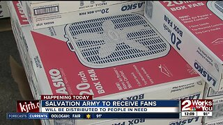 Salvation Army to distribute fans to those in need