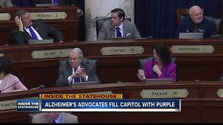 Alzheimer's advocates fill Idaho Statehouse with purple - Video
