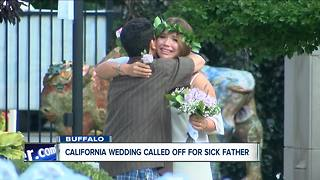 Father with cancer walks daughter down the aisle - Video