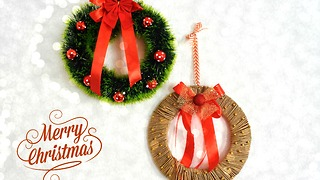 DIY easy Christmas wreaths - Video