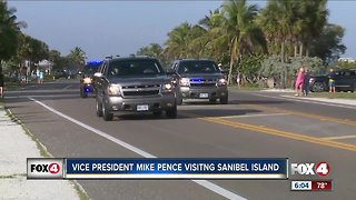 Vice President Mike Pence visits Sanibel
