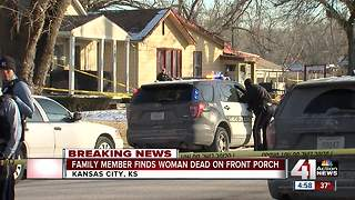Woman found stabbed to death on porch in KCK - Video