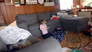 5-Year-old Films Video of Messy House - Video