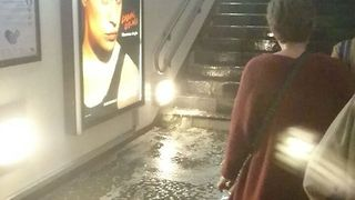 Heavy Rain Causes Flooding in Paris Metro - Video