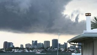 As Tornado Warning Issued, Clouds Swirl Over Fort Lauderdale - Video