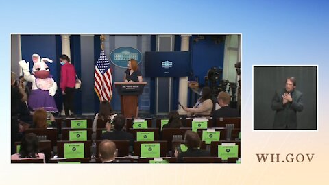 Psaki Cuts Presser, Brings In EASTER BUNNY When Confronted About Biden Lies