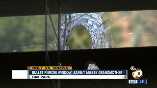Bullet pierces Oak Park window, barely misses grandmother - Video