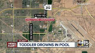 Child pulled from Gilbert pool dies at hospital