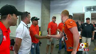 Wounded vets visit Bengals - Video