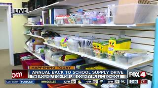 Annual Back to School Supply Drive Underway in Lee County - Video