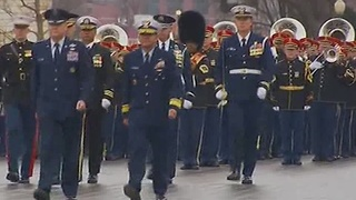 Beginning of the 2017 inaugural parade - Video