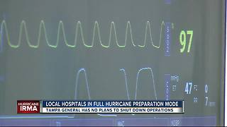 Local hospital staff in full hurricane preparation mode, ready before Irma arrives - Video