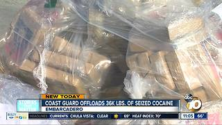 Coast Guard offloads 36,000 lbs. of cocaine