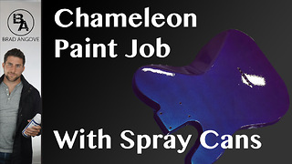 How to do a chameleon paint job with spray cans - Video