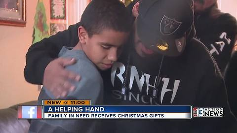Christmas surprise for local family